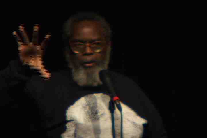 Kalamu ya Salaam announces Listen to the People radical history project & blows the roof off NYC Bowery Poetry Club Katrina benefit with a poem perhaps described as Superdome Systems of Thought - Death to the System!