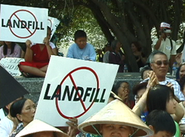NO Landfill Rally at City Hall, May 10