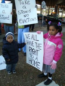 Protest at Lafitte Leading Up to DC Visit by Housing Residents