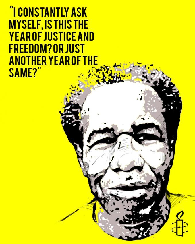 Amnesty Intl poster...